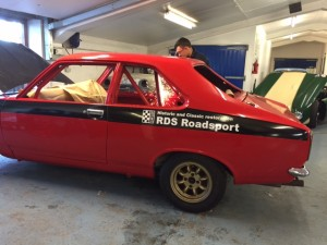 Hillman Avenger historic rally car roll cage fabrication