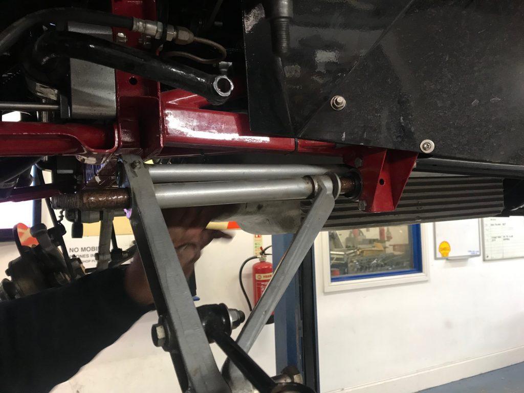 Jaguar E-type front suspension rebuild