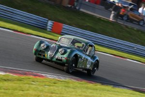 XK140 race car testing Brands Hatch