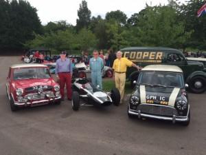 John Rhodes Paddy Hopkirk Mike Cooper Cooper 70th Anniversary Prescott Hill
