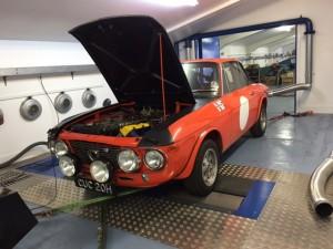 Lancia Fulvia 1600 HF rolling road tuning 2