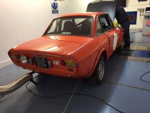 Lancia Fulvia 1600 HF rolling road tuning