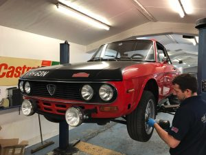 Lancia Fulvia suspension repair