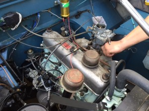 Land Rover series 2 engine tune up 2