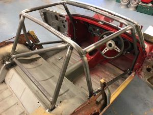 bespoke motorsport roll cage fabrication