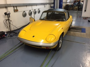 Lotus Elan S4 rolling road
