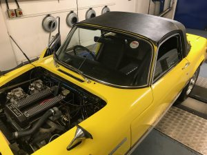 Lotus Elan Sprint rolling road tuning
