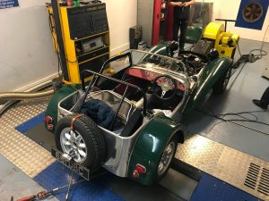 Sussex rolling road tuning Lotus Seven