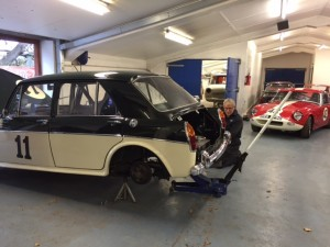 MG1100 race preparation a-series challeng donington park