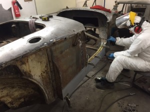 MGA restoration front wing rear wing door sills f sections 2