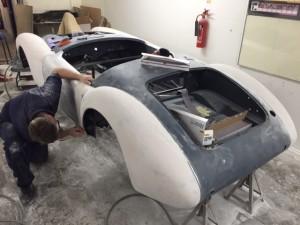 MGA restoration paint prep
