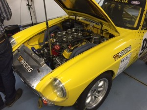 MGB V8 Weber IDF race car rolling road tuning