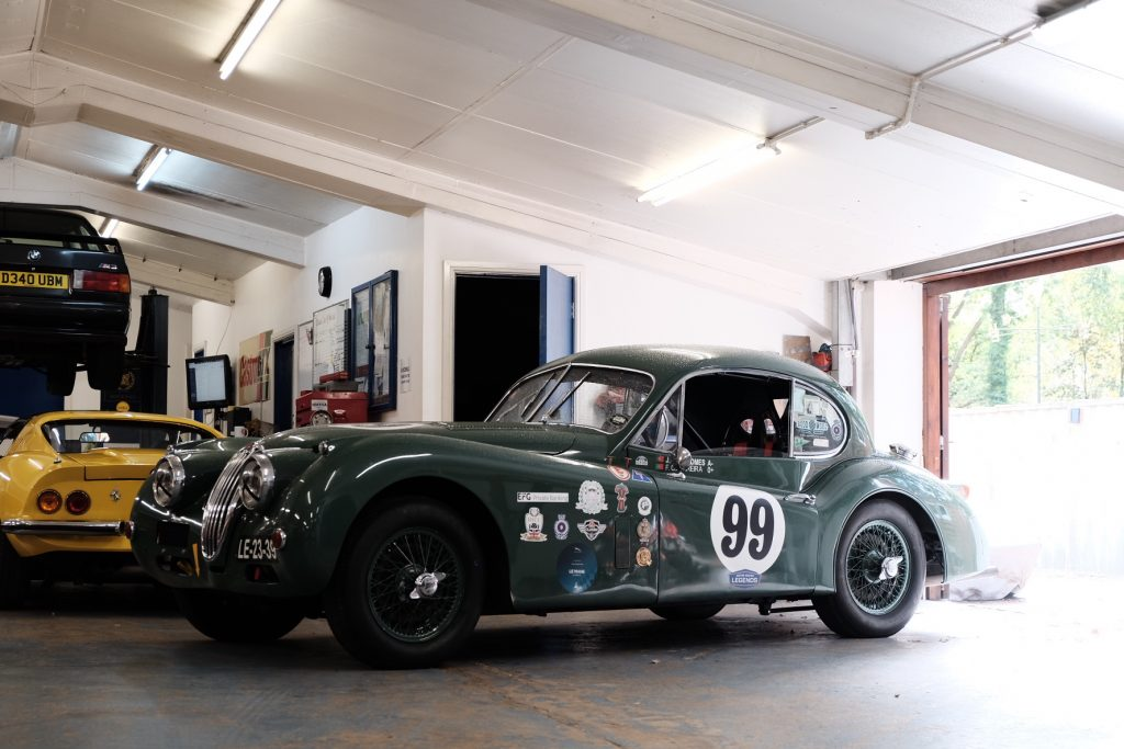 Jaguar XK140 historic race prep