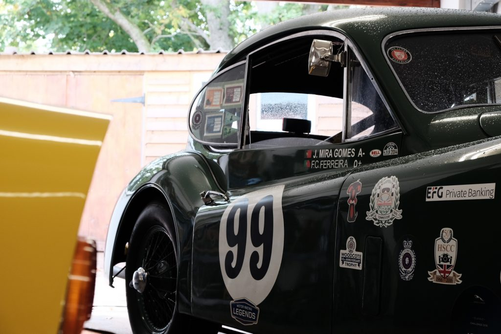 Jaguar XK140 historic race prep