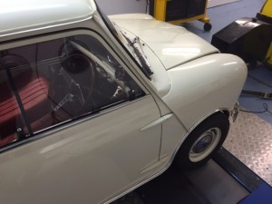 Mk1 Mini rolling road twin HS4 carburettors