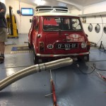 Mk2 Mini Cooper S rally car rolling road
