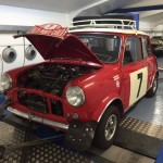 Mk2 Mini Cooper S rally car rolling road 2