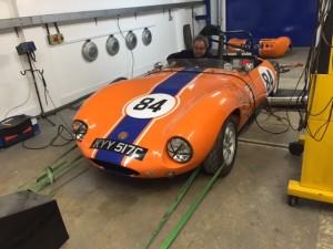 Murphy:Burford Ginetta G4 historic race car rolling road tune