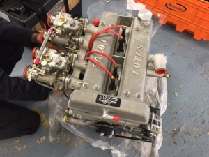 Neil Brown Lotus twin cam race engine FIA Cortina