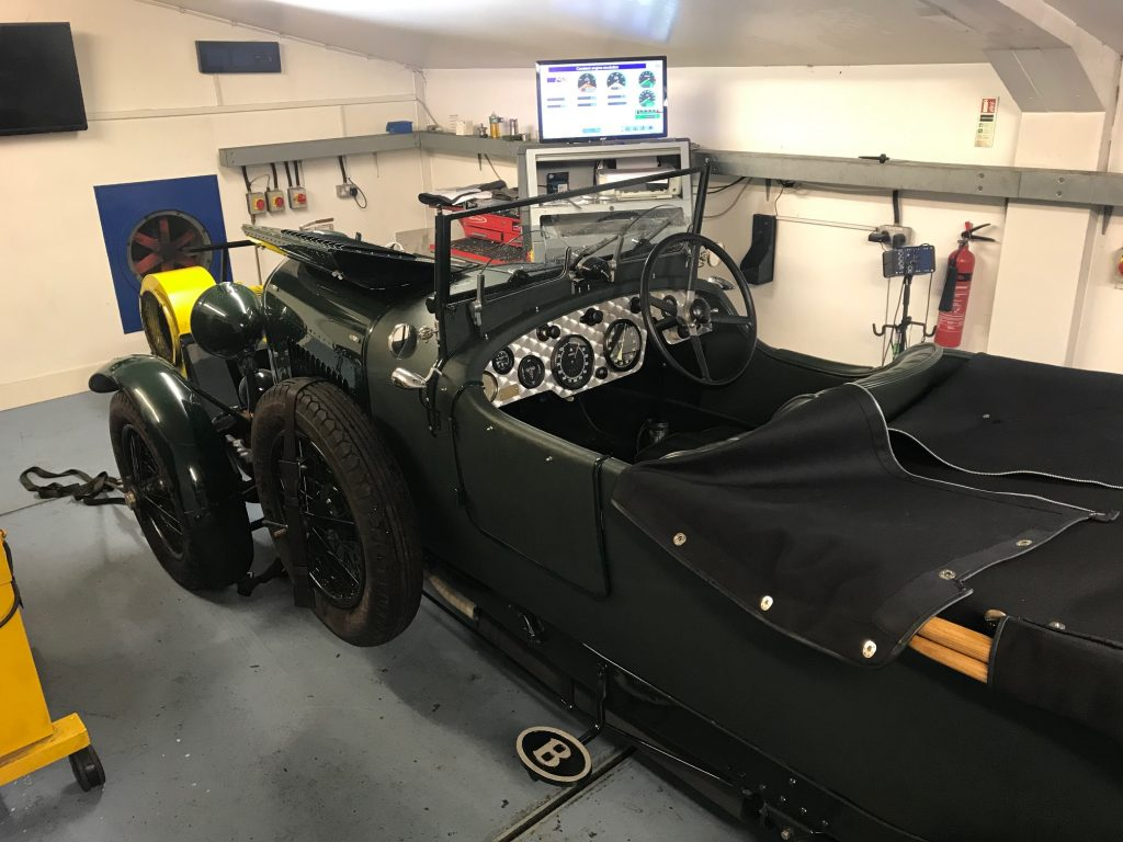 Prewar Bentley 4 1/2 litre rolling road tuning