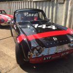 Race car preparation Oulton Park Gold Cup