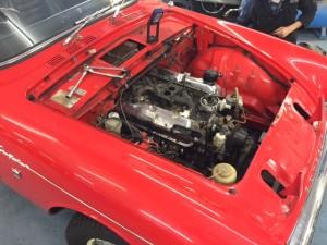 Sunbeam Tiger engine bay
