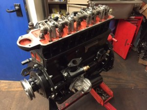 TR4A road engine rebuild 2