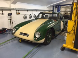 TVR Grantura Coventry Climax rolling road tuning 2