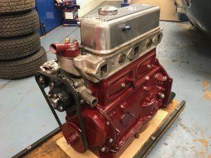 TVR Grantura MGA race engine rebuild