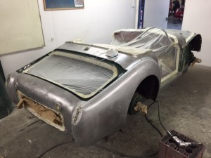 Triumph TR3A paint and body repair