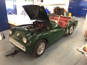Triumph TR3A repair and repaint