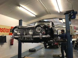 Triumph TR4A sprint and hill climb preparation