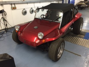 VW Beach Buggy rolling road