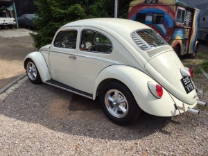 VW Beetle rear window