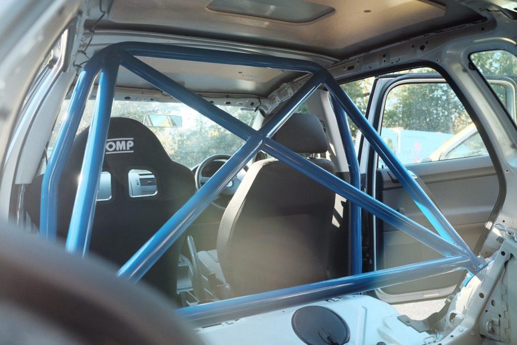 VW Polo roll cage fabrication MSUK targa rally preparation