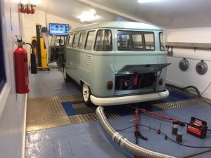 VW split screen camper rolling road tune 2