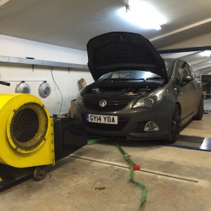 Vauxhall Corsa VXR power run