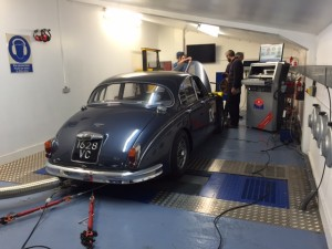 Webb Jaguar Mk2 rolling road tuning
